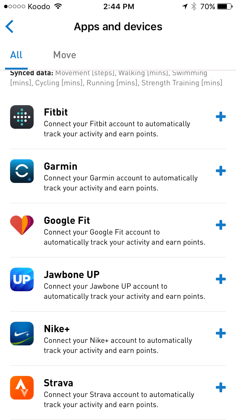 Connecting a Fitness Device or App – Sprout Support Portal